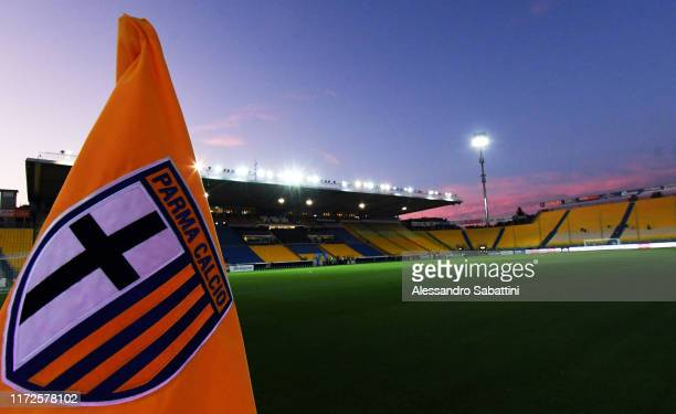A general view inside the Stadio Ennio Tardini before the Serie A match between Parma Calcio and Torino FC at Stadio Ennio Tardini on September 30...