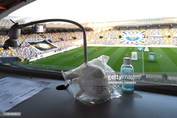 General view inside the stadio Friuli before the Serie A match between Udinese Calcio and ACF Fiorentina at Stadio Friuli on March 08, 2020 in Udine,...