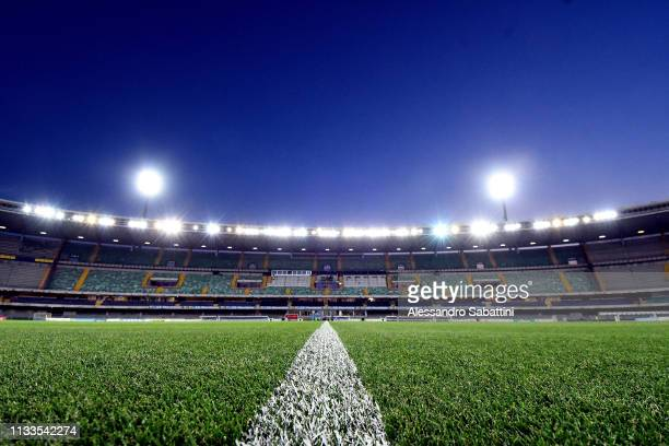 A general view inside the Stadio Marc'Antonio Bentegodi during the Serie A match between Chievo Verona and Cagliari at Stadio Marc'Antonio Bentegodi...