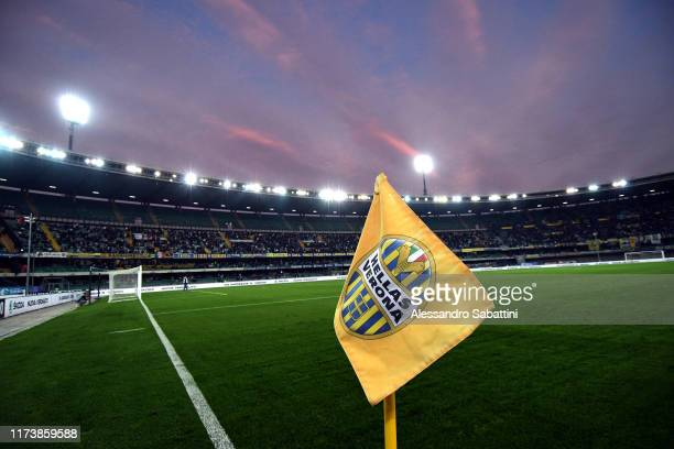 General view inside the Stadio Marcantonio Bentegodi during the Serie A match between Hellas Verona and UC Sampdoria at Stadio Marcantonio Bentegodi...