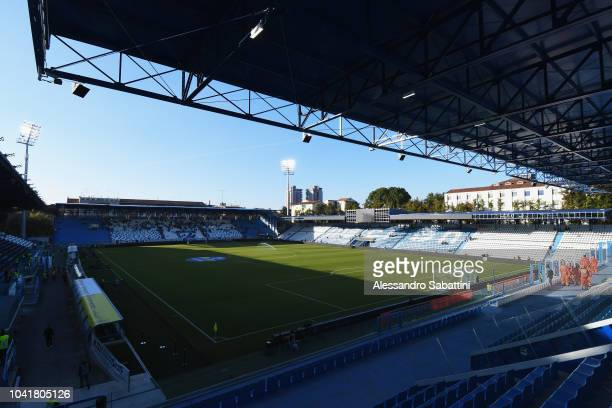 General view inside the Stadio Paolo Mazza before the serie A match between SPAL and US Sassuolo at Stadio Paolo Mazza on September 27, 2018 in...