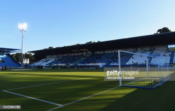 A general view inside the Stadio Paolo Mazza before the Serie A match between SPAL and US Sassuolo at Stadio Paolo Mazza on September 27 2018 in...