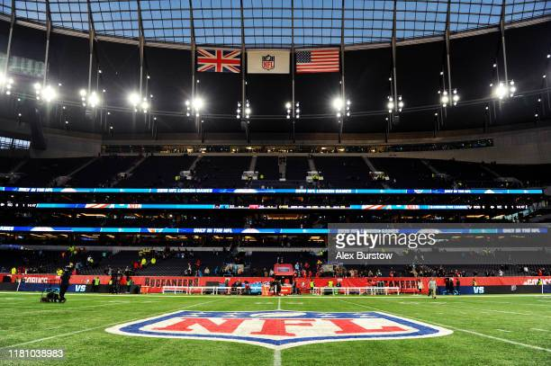 General view inside the stadium after the NFL match between the Carolina Panthers and Tampa Bay Buccaneers at Tottenham Hotspur Stadium on October...