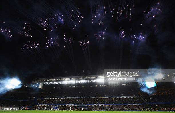 General view inside the stadium after the Premier League match between Chelsea and Watford at Stamford Bridge on May 15 2017 in London England