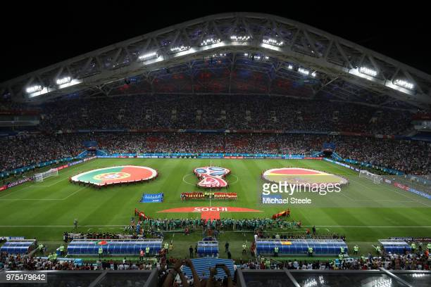 General view inside the stadium ahead of the 2018 FIFA World Cup Russia group B match between Portugal and Spain at Fisht Stadium on June 15 2018 in...