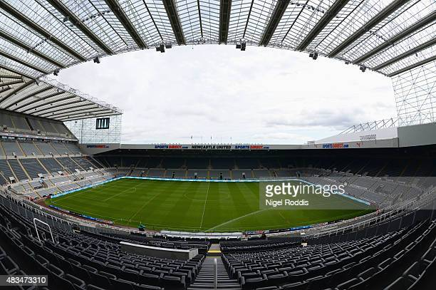 A general view inside the stadium ahead of the Barclays Premier League match between Newcastle United and Southampton at St James' Park on August 9...