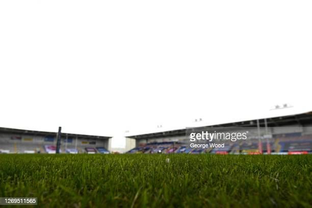 General view inside the stadium ahead of the Betfred Super League match between Wigan Warriors and Castleford Tigers at The Halliwell Jones Stadium...