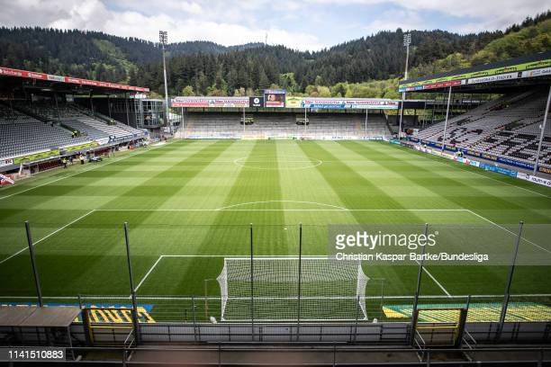 General view inside the stadium ahead of the Bundesliga match between Sport-Club Freiburg and Fortuna Düsseldorf at Schwarzwald-Stadion on May 5,...