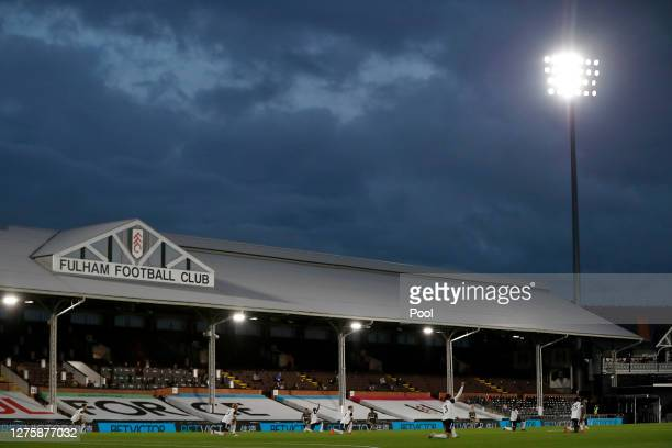 General view inside the stadium ahead of the Carabao Cup third round match between Fulham and Sheffield Wednesday at Craven Cottage on September 23,...