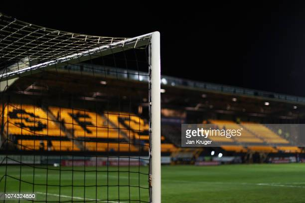 General view inside the stadium ahead of the FA Cup Second Round Replay match between Southport and Tranmere Rovers at Haig Avenue on December 17,...