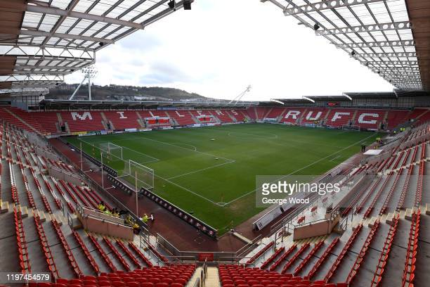 A general view inside the stadium ahead of the FA Cup Third Round match between Rotherham United and Hull City at The New York Stadium on January 04...