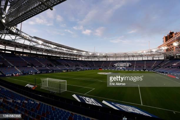 A general view inside the stadium ahead of the La Liga Santander match between Levante UD and Deportivo Alaves at Ciutat de Valencia Stadium on...