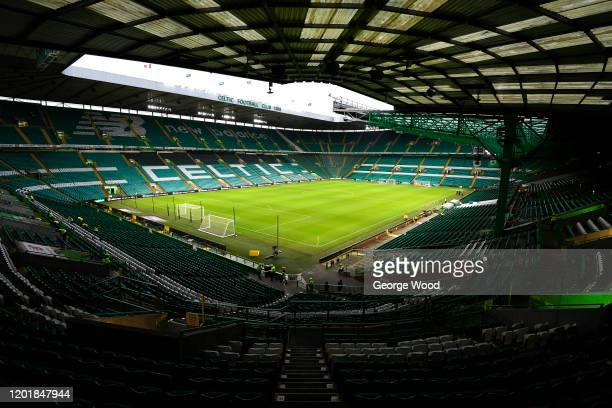 General view inside the stadium ahead of the Ladbrokes Premiership match between Celtic and Ross County at Celtic Park on January 25, 2020 in...