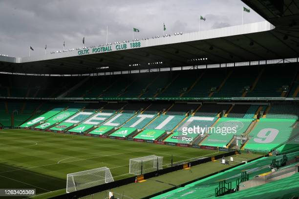 General view inside the stadium ahead of the Ladbrokes Premiership match between Celtic and Hamilton Academical at Celtic Park Stadium on August 02,...