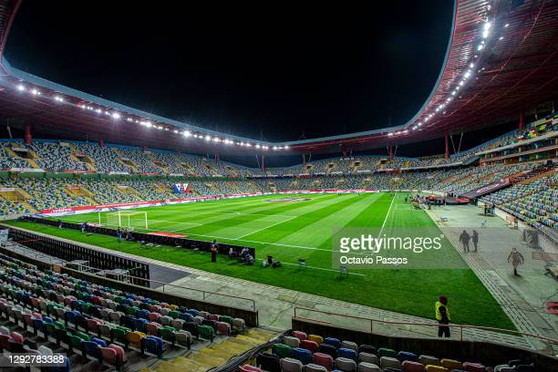 General view inside the stadium ahead of the Portuguese Super Cup final between FC Porto and SL Benfica at Estadio Municipal de Aveiro on December...