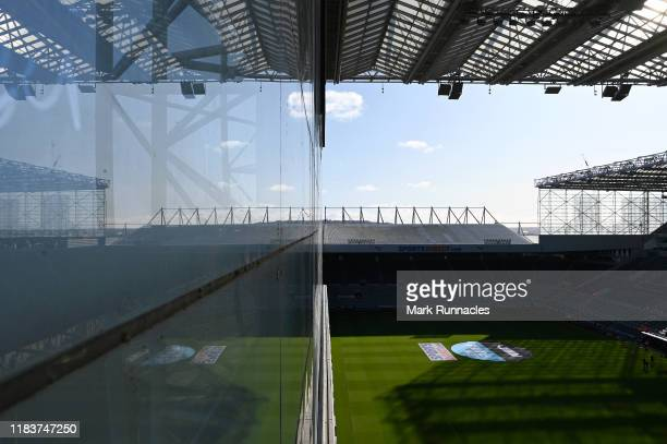 General view inside the stadium ahead of the Premier League match between Newcastle United and Wolverhampton Wanderers at St James Park on October 27...