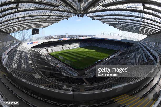 General view inside the stadium ahead of the Premier League match between Newcastle United and Wolverhampton Wanderers at St. James Park on October...