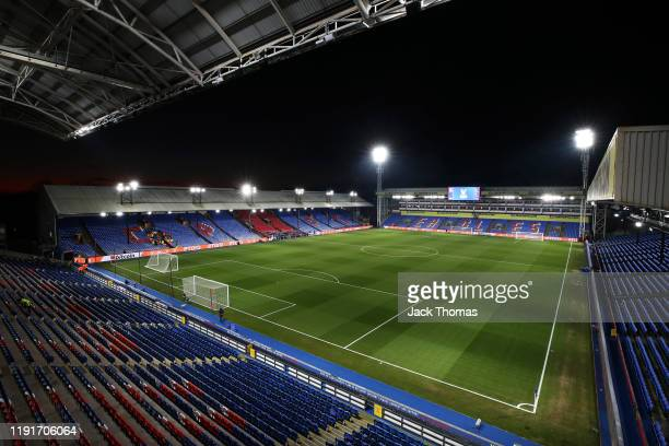 General view inside the stadium ahead of the Premier League match between Crystal Palace and AFC Bournemouth at Selhurst Park on December 03, 2019 in...