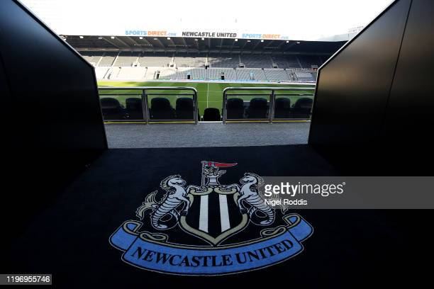 General view inside the stadium ahead of the Premier League match between Newcastle United and Leicester City at St James Park on January 01 2020 in...
