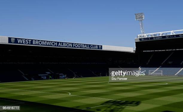 General view inside the stadium ahead of the Premier League match between West Bromwich Albion and Tottenham Hotspur at The Hawthorns on May 5, 2018...