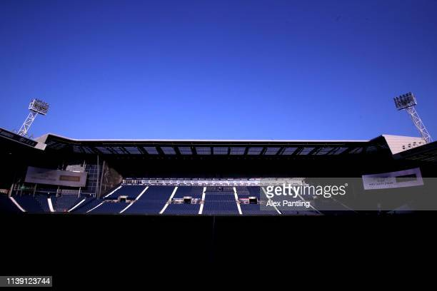 General view inside the stadium ahead of the Sky bet Championship match between West Bromwich Albion and Birmingham City at The Hawthorns on March...