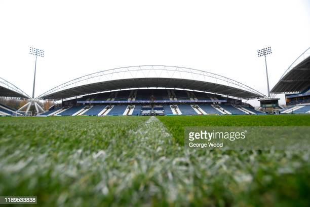 General view inside the stadium ahead of the Sky Bet Championship match between Huddersfield Town and Birmingham City at John Smith's Stadium on...