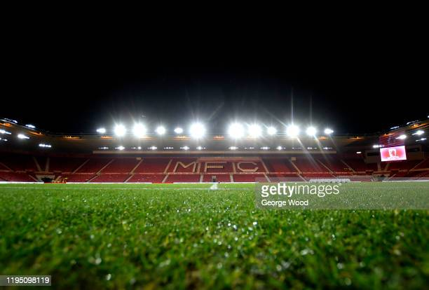 General view inside the stadium ahead of the Sky Bet Championship match between Middlesbrough and Stoke City at Riverside Stadium on December 20,...
