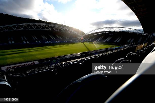 General view inside the stadium ahead of the Sky Bet Championship match between Huddersfield Town and Nottingham Forest at John Smith's Stadium on...