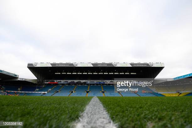 A general view inside the stadium ahead of the Sky Bet Championship match between Leeds United and Wigan Athletic at Elland Road on February 01 2020...