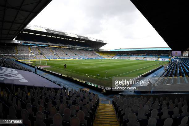 A general view inside the stadium ahead of the Sky Bet Championship match between Leeds United and Fulham at Elland Road on June 27 2020 in Leeds...
