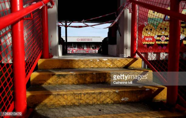 General view inside the stadium ahead of the Sky Bet Championship Play Off Semifinal 2nd Leg match between Brentford and Swansea City at Griffin Park...