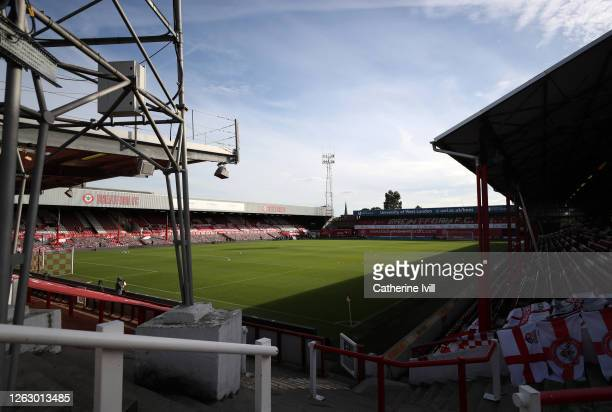 General view inside the stadium ahead of the Sky Bet Championship Play Off Semi-final 2nd Leg match between Brentford and Swansea City at Griffin...