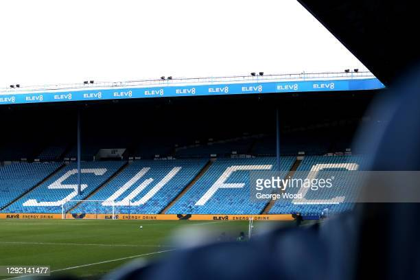 General view inside the stadium ahead of the Sky Bet Championship match between Sheffield Wednesday and Coventry City at Hillsborough Stadium on...