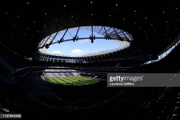 General view inside the stadium ahead of the U18 Premier League between Tottenham Hotspur and Southampton at Tottenham Hotspur Stadium on March 24...