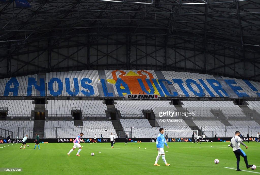 Olympique de Marseille v Manchester City: Group C - UEFA Champions League : News Photo
