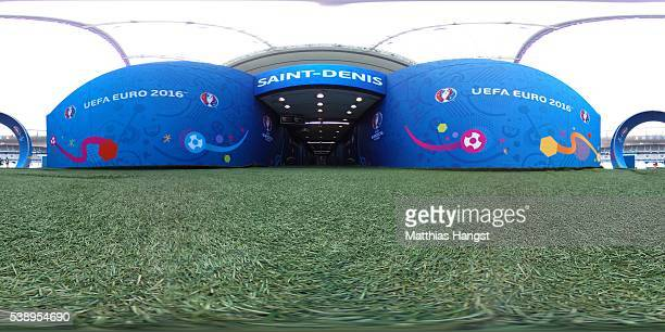 A general view inside the stadium ahead of the UEFA Euro 2016 at Stade de France on June 9 2016 in Paris France France and Romania will contest the...