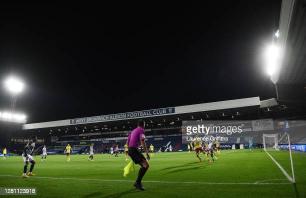General view inside the stadium as Matheus Pereira of West Bromwich Albion controls the ball during the Premier League match between West Bromwich...