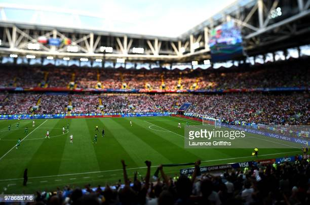 General view inside the stadium as Mbaye Niang of Senegal scores his team's second goal during the 2018 FIFA World Cup Russia group H match between...