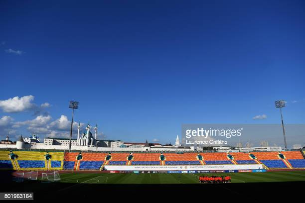 General view inside the stadium as the Chile team train during a Chile training session during the FIFA Confederations Cup Russia 2017 at Central...