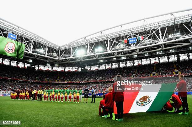 General view inside the stadium as the two teams line up prior to the FIFA Confederations Cup Russia 2017 PlayOff for Third Place between Portugal...