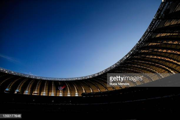 General view inside the stadium before a match between Internacional and Universidad de Chile as part of Copa CONMEBOL Libertadores 2020...