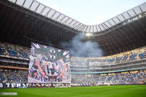 General view inside the stadium before the 2nd round match between Monterrey and Morelia as part of the Torneo Clausura 2020 Liga MX at BBVA Stadium...