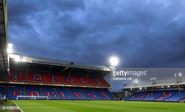 General view inside the stadium before the Premier League match between Crystal Palace and Newcastle United at Selhurst Park on February 4 2018 in...