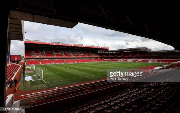 General view inside the stadium before the Sky Bet Championship match between Nottingham Forest and Brentford at City Ground on October 05, 2019 in...