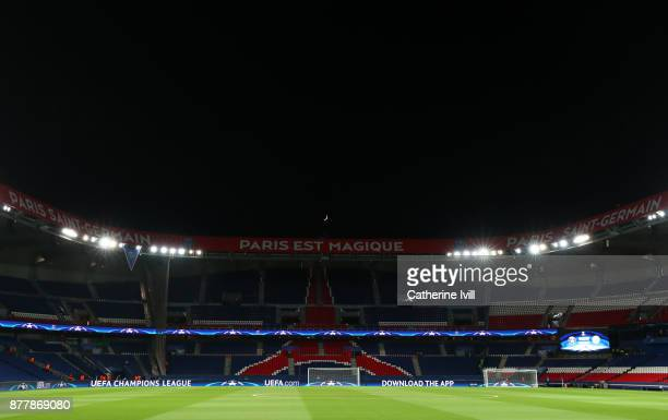 General view inside the stadium before the UEFA Champions League group B match between Paris SaintGermain and Celtic FC at Parc des Princes on...