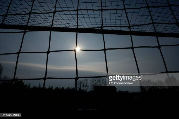 General view inside the stadium before the Women Serie A match between FC Internazionale and Juventus at Suning Youth Development Centre in memory of...