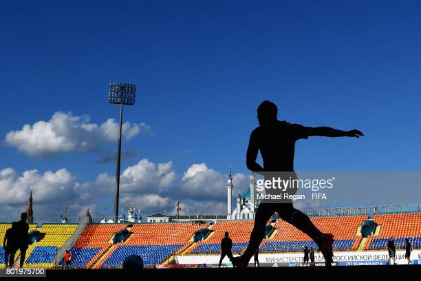 General view inside the stadium during a Chile training session during the FIFA Confederations Cup Russia 2017 at Central Stadium on June 27, 2017 in...