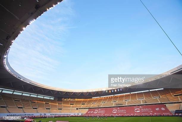 General view inside the stadium during a Germany training session ahead of the UEFA Nations League match against Spain at Estadio de La Cartuja on...