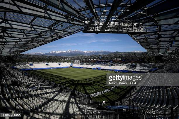 General view inside the stadium during Day 2 of the FIFA Women's World Cup France 2019 at Stade des Alpes on June 08 2019 in Grenoble France