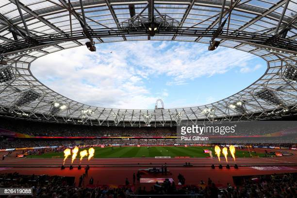A general view inside the stadium during day one of the 16th IAAF World Athletics Championships London 2017 at The London Stadium on August 4 2017 in...